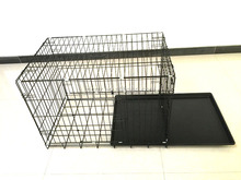 China supplier 6 Sizes Metal Folding Dog cage, Foldable Dog Crate,/2 Doors Easy to Carry
