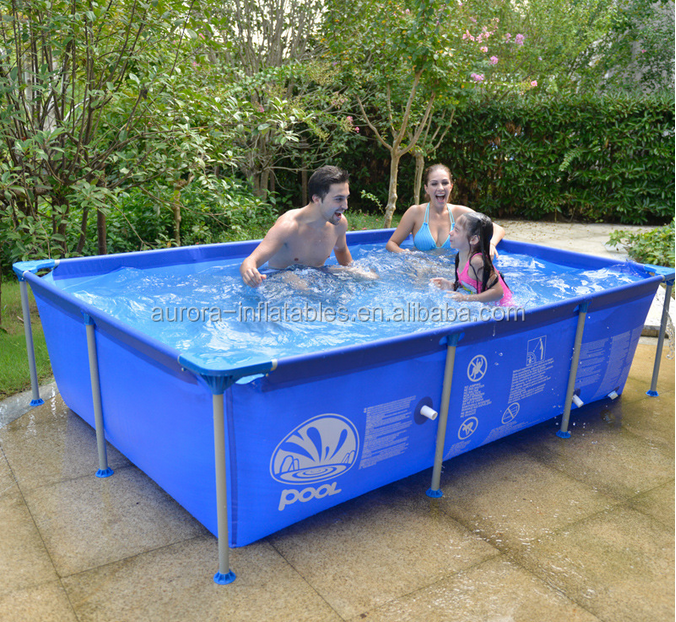 Convenient and durable above ground metal frame indoor outdoor swimming pools