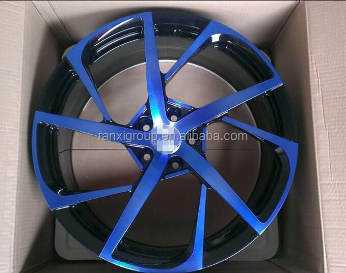 18/19/20 inch blue face forged wheel rim for German car