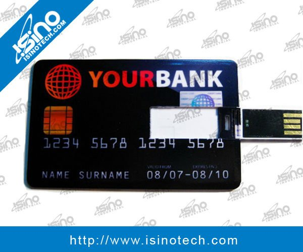 Ultra Slim Credit Card Shape USB 16GB with Full Color Printing