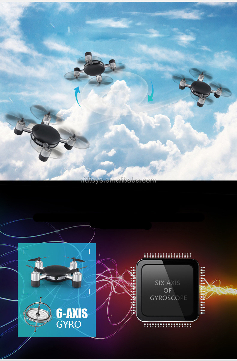 2.4Ghz real-time mobile control wifi FPV drone mini rc quadcopter with 0.3mp camera rc drone with camera