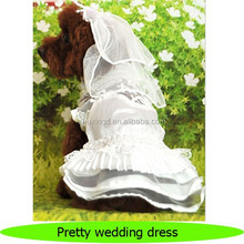 Wholesale lace pet dog wedding dress, summer dog dress, pet dress