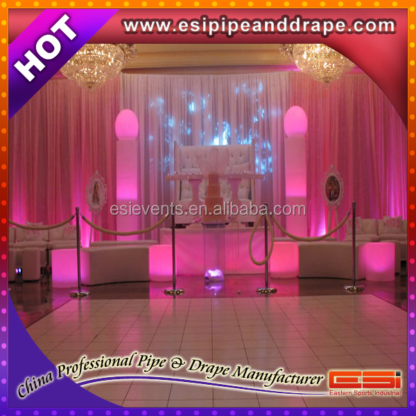 ESI wholesale price wedding drapery curtain fabric