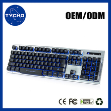 Backlit Gaming Keyboard French Layout Multimedia Keyboard Metal Cover Office Computer Keyboard