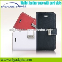 2013 Hot selling Quality Genuine leather folio case for iphone5,for iphone5 cellphone cases