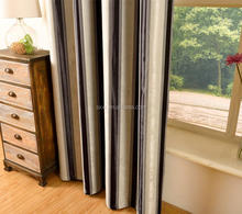 Germanysheer stripe linen window curtain and blackout stripe new design 2017