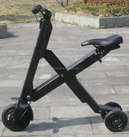 China made high quality lithium battery folding electric adult three wheel scooter price