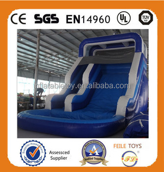 High quality water slide inflatable for pool,water slide with pool for sale,cheap inflatable water slides for sale
