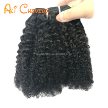 Overnight shipping Malaysian kinky afro textured hair extensions