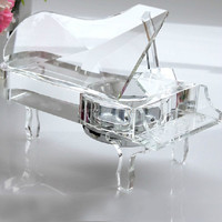 Novelty Crystal Piano Music Box Wedding Gifts Wedding Favors