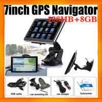 7inch HD Universal Truck GPS Navigation 84H-3 with 8GB and free map