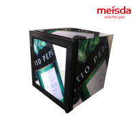 Meisda 52L mini bar multi-style glass door display fridge for beer