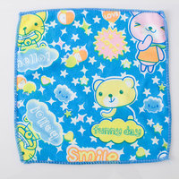 factory cheap wholesale microfiber square printed towel for India market