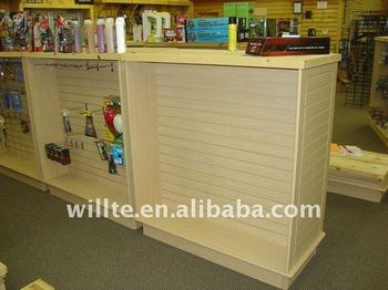 2016 retail MDF Slatwall panel display stand