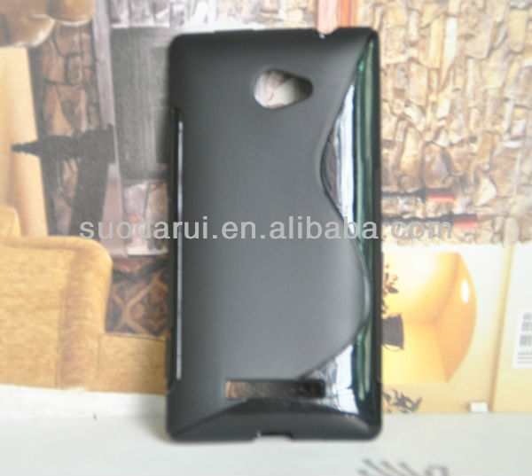 S line TPU Case for HTC 8x C620e,C620a,ACCORD Wave Curve Gel Cover