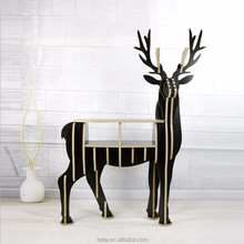 FSC life size stand free wooden deer shape desk table