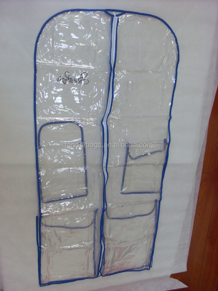 For Dress Plastic Packing Clear Dance Garment Bags With Pockets
