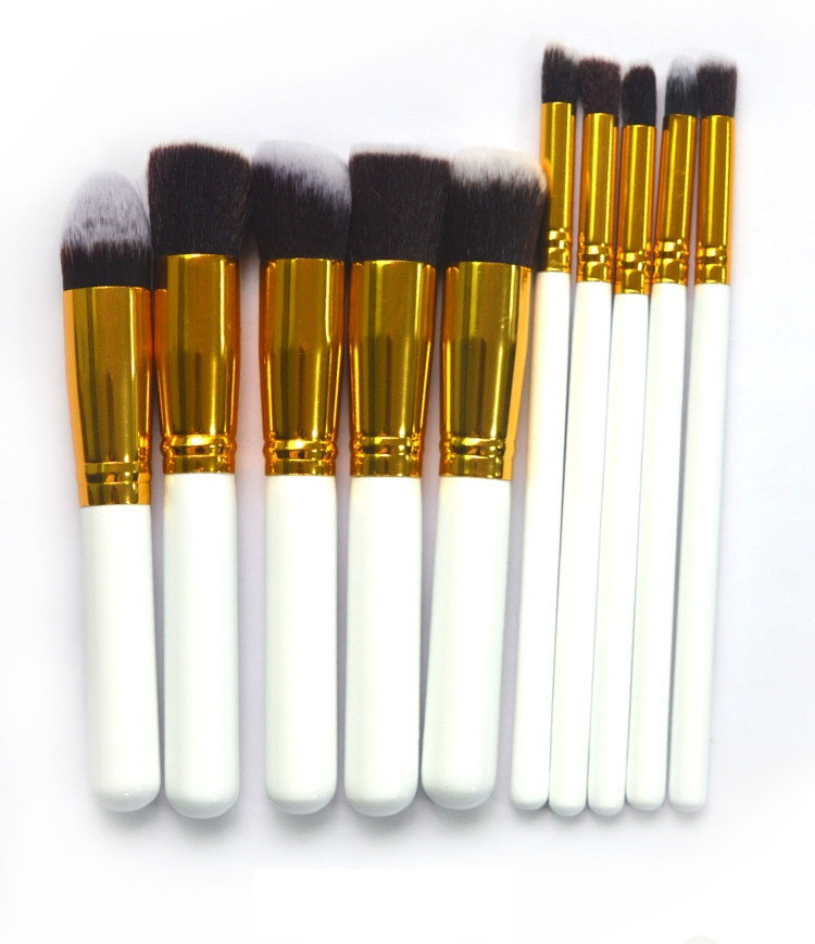 Shenzhen beauty gift 10 pcs cosmetic make up brushes set makeup kits for sale with free shipping