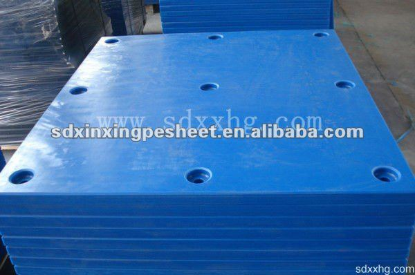 Super cell/cone marine fender UHMW PE pad,UV resistance UHMWPE board