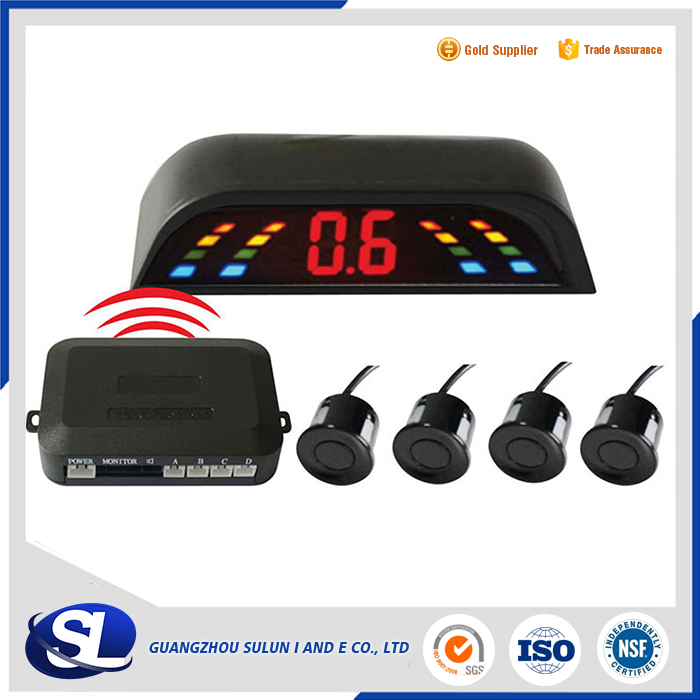 wireless parking sensor Car LED 4 Wireless Parking Sensor Backup Radar parking radar detector