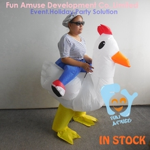 funny halloween fat adult inflatable chicken costume