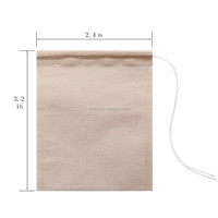 Natural wood pulp filter paper unbleached Tea Filter Bags with Drawstring