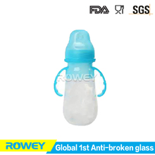 Factory direct sale manufacturing glass bottle breastfed baby with handle