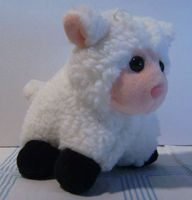 "Commonwealth White Lamb Stuffed Animal Plush Toy 4"" L - 5"" H Ages 3 and Up - New"