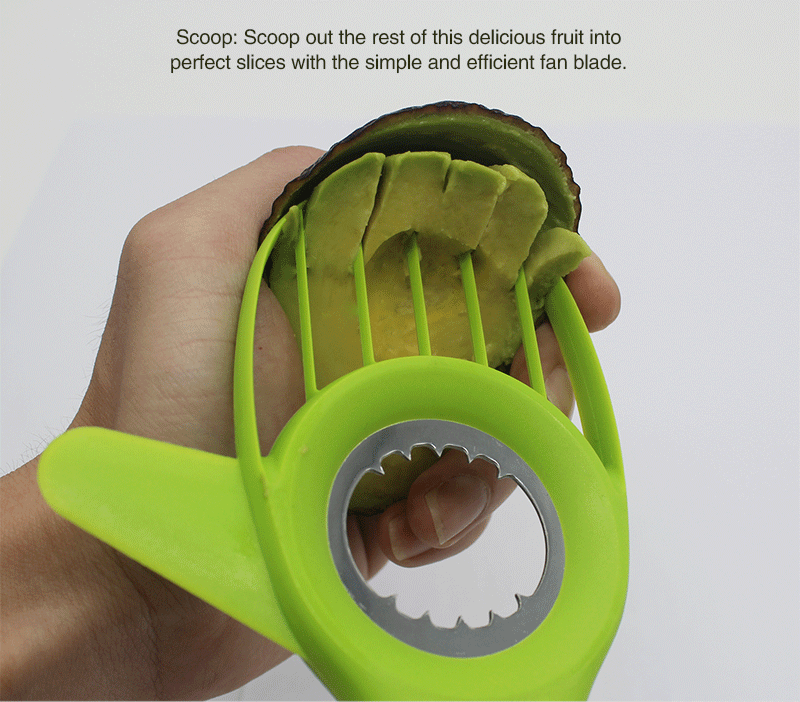 Custom fruit vegetable tools 3 in 1 avocado slicer pitter cutter