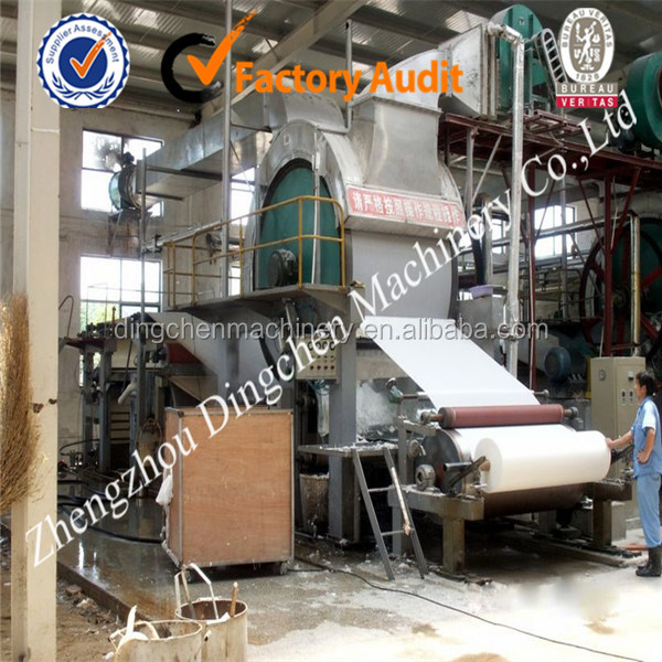 2800-toilet tissue paper making machine with pulp making equipment