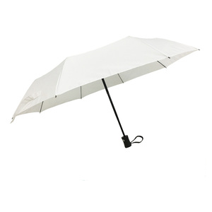 Plain high quality happy white wedding fold travel umbrella