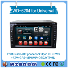 Universal 2 car dvd player with gps bluetooth tv 6.2'' double din car stereo with android system TPMS, Auto audio ,GPS navi CE