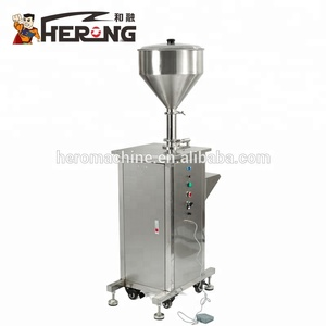 HERO BRAND Carbonated Soft Drink Automatic Mushroom Sauce Essential Oil Bottle Price Eye Drop Liquid Lip Glaze Filling Machine