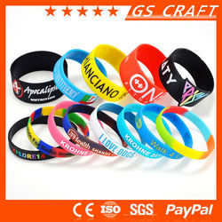 Promotion Silicon Bracelet Glow, Eco-Friendly Fashionale Cheap Custom Silicone Bracelet,Colorful OEM Silicon Bracelet For Sports