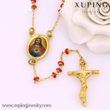 VIP--42528 Xuping hot sales 14k gold color latest cross necklace