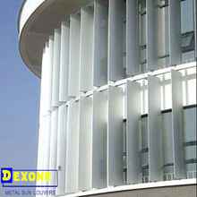 Aluminum exterior vertical shutter louver with ellipse shape for facade