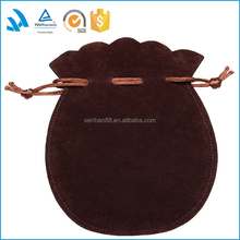 Wholesale luxury logo printed custom drawstring jewelry pouch/bag