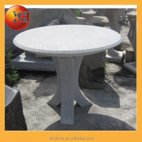 outdoor garden stone table with cup holders for garden ornaments