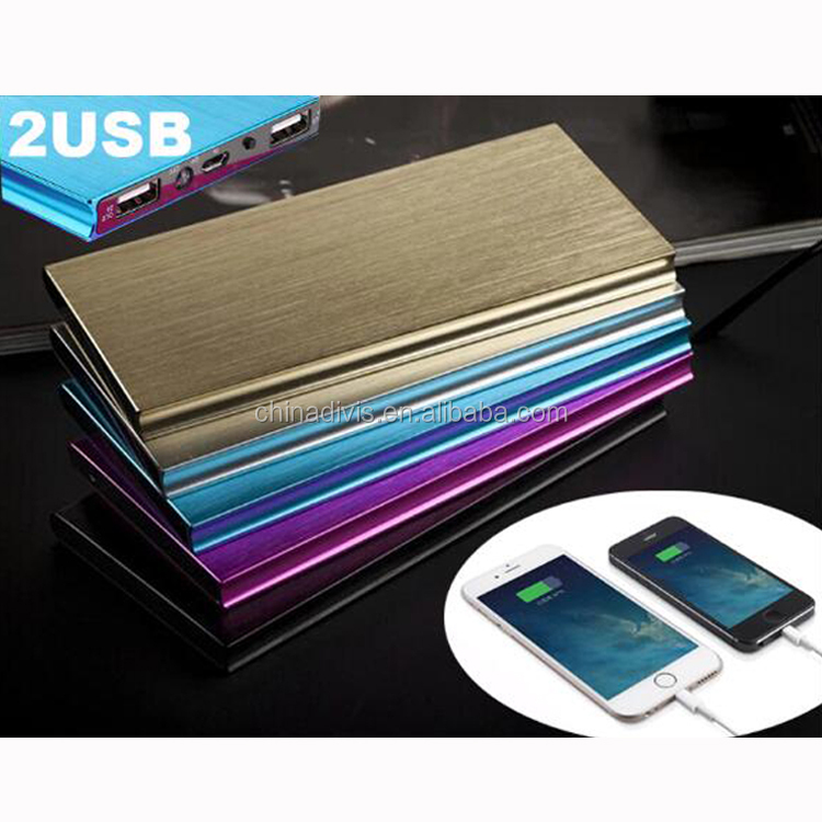 Ultra Thin Power Bank 6000mAh Mini Portable External Battery Charger for iphone Mobile Power Bank 10000mAh for Cell Phone