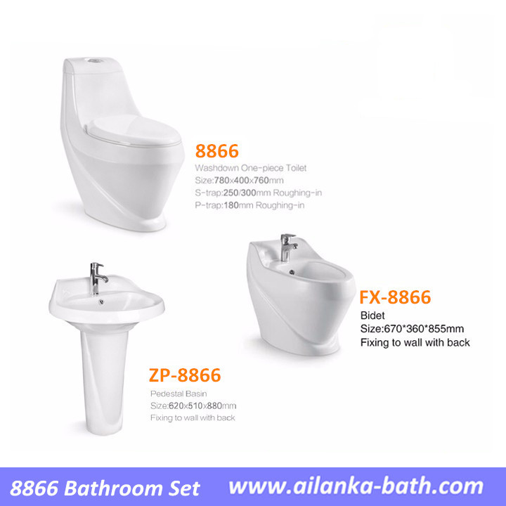 Hot Sale In Middle East Sanitary Ware Bathroom Sets With Toilet Basin Bidet