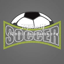 hot fix stone sticker design soccer vinyl decals