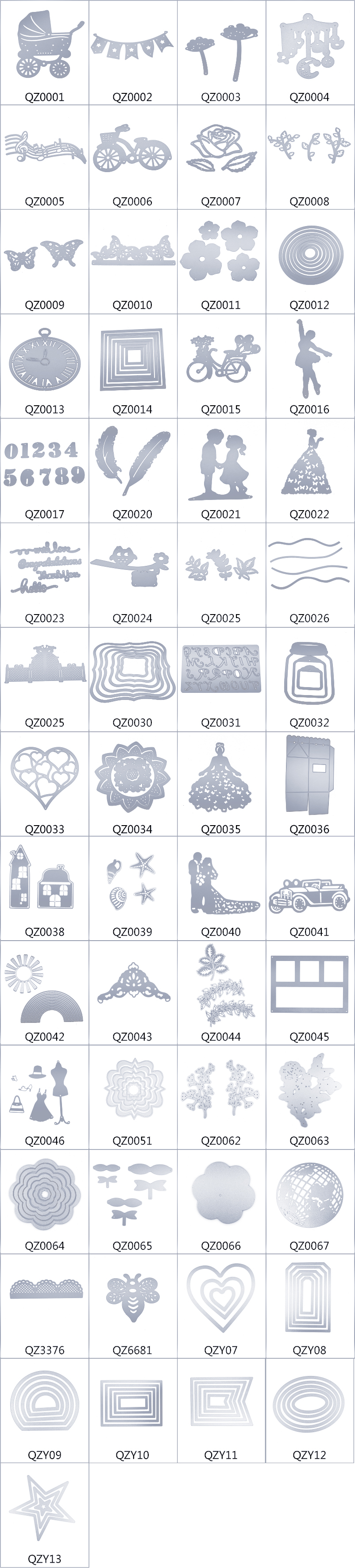 QZ0002 Flag shape high carbon steel big shot sizzix stencils paper and metal craft die cutting for scrapbook