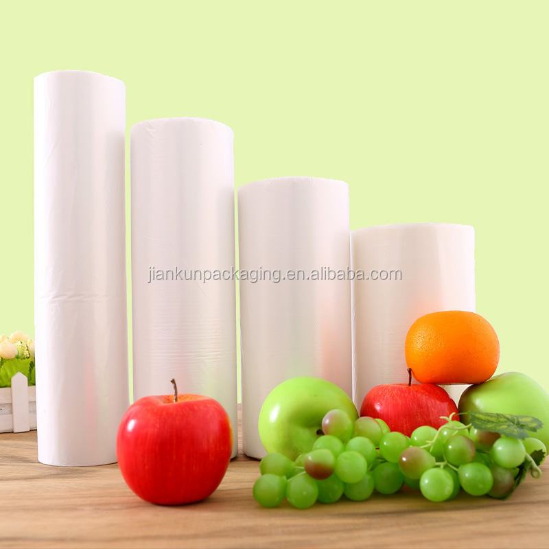 Supermarket special point breaking type hand tear transparent plastic rolling bag packing shopping bags customed