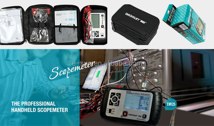 All-sun EM125 Handheld Digital Storage Oscilloscope 25MHz 100M Sa/s Scope Meter with LED backlight stock in US