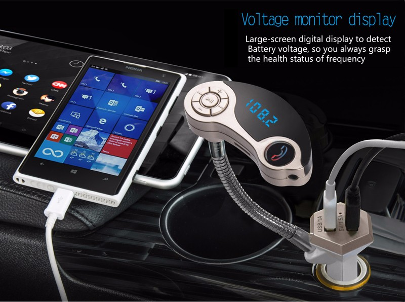 GXYKIT high quality GT86 car mp3 player fm adio transmitter with Bluetooth function LCD display