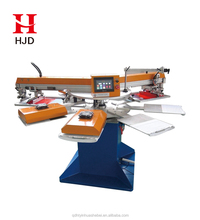 HWT-A Rotary Automatic T shirt Silk Screen Printing Machine For Sale Textile/Fabric/Clothes Printing Factory