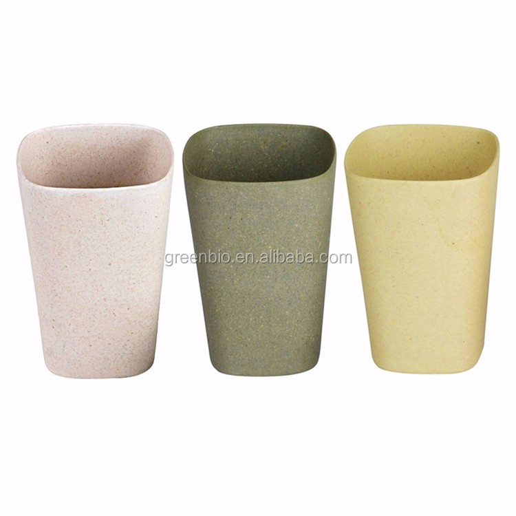 Natural degradation Customized printing square Bamboo fiber coffee mug or dinnerware In outdoor activities