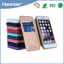 Factory Directly Selling luxury unique card slot pu leather cellphone case for iphone5