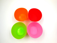 Colorful Round Shape Silicone Cake Cup