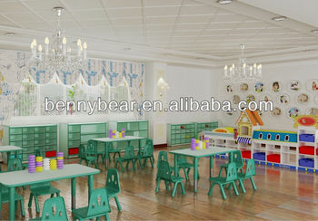 Hot Sale Nursery School Wooden Furniture Children Classroom Furniture Set